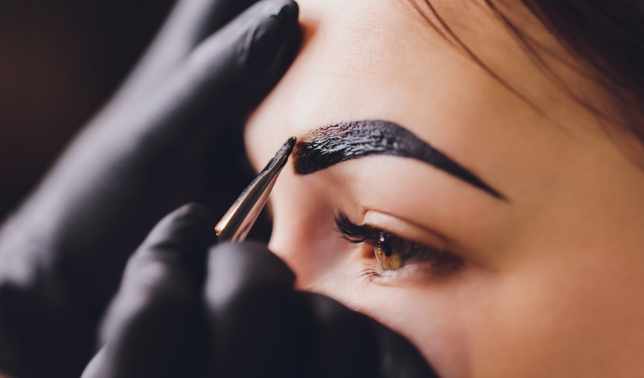 brow tint and shape at home