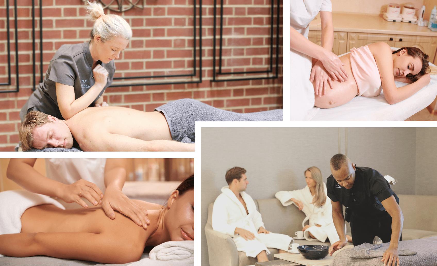 massage services collage