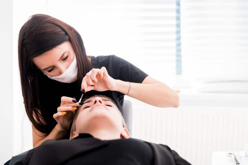 Eyebrow threading and shaping at home by USPAAH